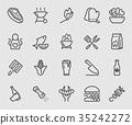 Barbecue line icon 35242272