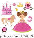 公主 城堡 馬車 35244676