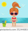 girl cute beach 35244683