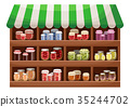 Farmer shop of berry jam 35244702