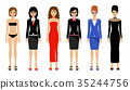 Fashionable women on a white background 35244756