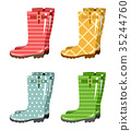 Set of gumboots on a white background 35244760