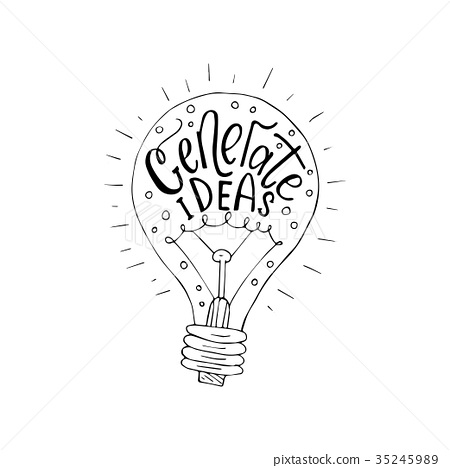 Generate ideas.  Business vector llustration wit 35245989