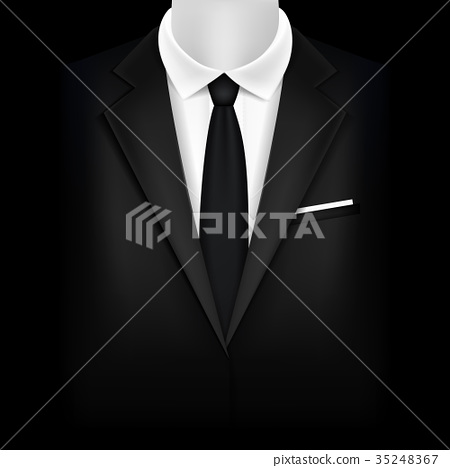 Realistic Detailed 3d Black Suit and Tuxedo 35248367