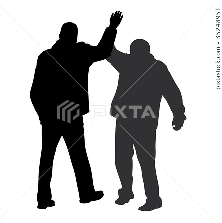 Give me five gesture between two businessmen 35248951