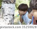 兒童,實地考察,昆蟲採集 35250028