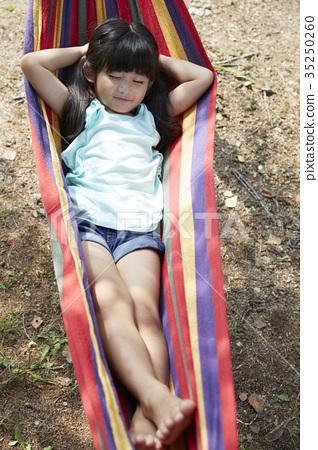 Children, hammock, break 35250260