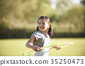 Children, hula hoops 35250473