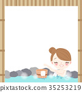 woman with hot spring 35253219