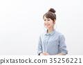 여성, 여자, 웃는 얼굴 35256221