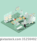 Vector isometric interior of operating room with 35256402