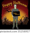 Vector Halloween concept 35256957