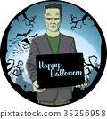 Vector Halloween concept 35256958