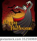 Vector Halloween concept 35256969