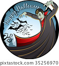 Vector Halloween concept 35256970