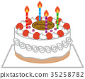 birthday, cake, vector 35258782