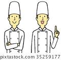 厨师袍 厨师的外套 厨师 35259177