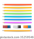 Colored Pencils Isolated Set Vector. 35259546