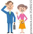 夫婦男人和婦女例證 35260215