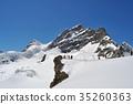 Jungfrau มองเห็นได้จากระเบียงที่ราบสูงของ Jungfraujoch ที่ด้านหลังของหอคอยสฟิงซ์ 35260363