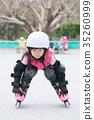 girl play roller skating 35260999