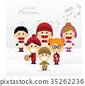 christmas, singing, kids 35262236