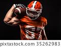 American football sportsman player 35262983