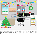 office, Christmas, decoration 35263210