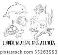 Sea Creatures Contours 35263993