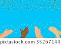 hands, clap, hand 35267144