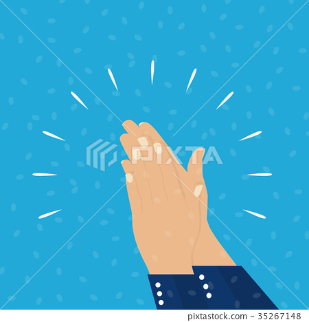 Flat. Applause. Hands clapping. Vector 35267148