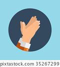 hands, clap, hand 35267299
