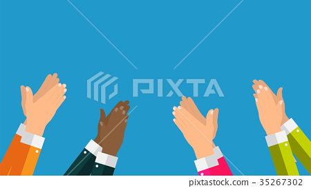 Flat. Concept of success Applause. Hands clapping 35267302