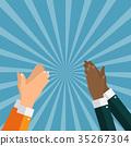 hands, clap, hand 35267304