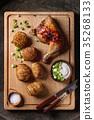 烘烤的 馬鈴薯 土豆 35268133