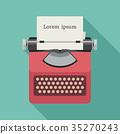 typewriter, vector, flat 35270243