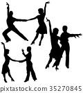 Latino Dancers Silhouettes 35270845