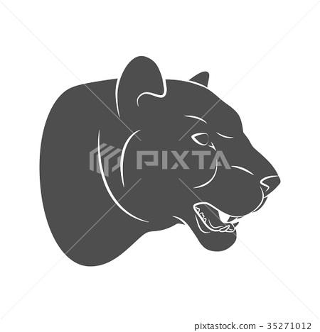 Silhouette predatory cat Leopard 35271012