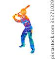baseball player ball 35271029