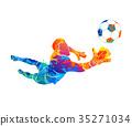 goalkeeper, ball Abstract 35271034