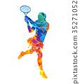 tennis player, silhouette 35271052