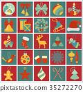 Christmas, New Year holidays icon set 35272270