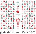 Christmas, New Year holidays icon set 35272274