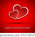 Two red hearts for Valentines day 35272814