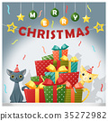 Merry Christmas and happy new year background 35272982