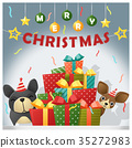 Merry Christmas and happy new year background 35272983