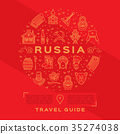 Vector Russian Travel Guide. Russian golden icons 35274038