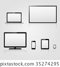 Modern technology devices with blank screen 35274295