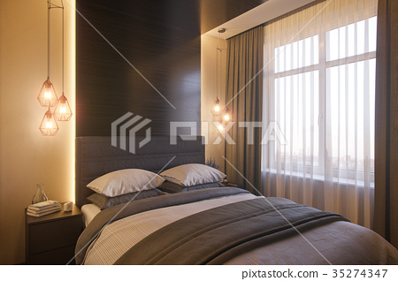 3d illustration of a bedroom interior design in a 35274347
