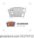 Accordion icon thin line art symbols, Accordions 35274712